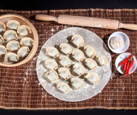 Chinese Dim Sum Dumplings Stock Photo 03