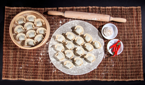 Chinese Dim Sum Dumplings Stock Photo 03