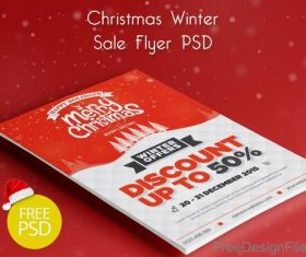 Christmas Winter Sale Flyer PSD Template