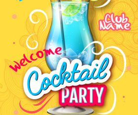 Cocktail party flyer template vectors material 02