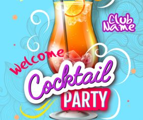 Cocktail party flyer template vectors material 04