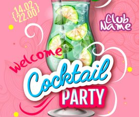 Cocktail party flyer template vectors material 06