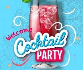 Cocktail party flyer template vectors material 08
