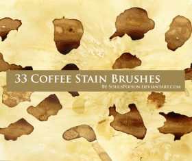Coffee Stain Grunge Photoshop Brushes