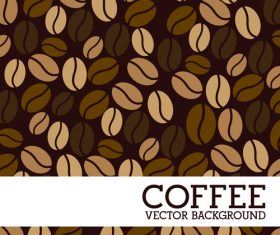 Coffee beans background design vector material