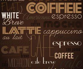 Coffee fashion art background vector design 01