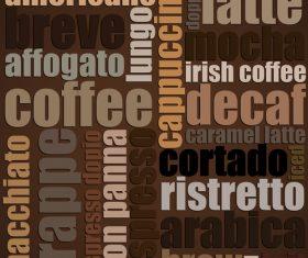Coffee fashion art background vector design 02