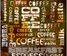 Coffee fashion art background vector design 03