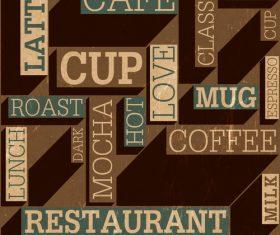 Coffee fashion art background vector design 04