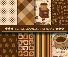 Coffee seamless pattern vintage vectors 01