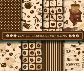 Coffee seamless pattern vintage vectors 02