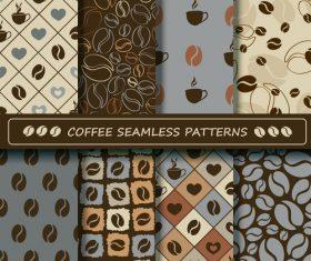 Coffee seamless pattern vintage vectors 04