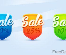 Colored sale sign design vector