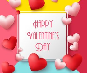 Colored valentines background with air heart vector