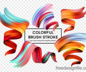 Colourful brush stroke illustration vectors material 02