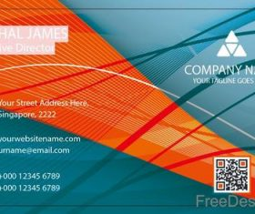 Company business card abstract styles vectors 01