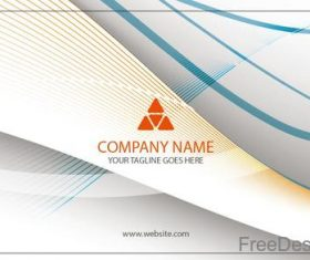 Company business card abstract styles vectors 02