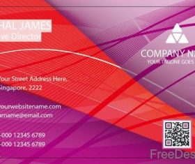 Company business card abstract styles vectors 03