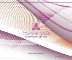 Company business card abstract styles vectors 04