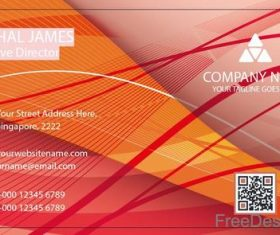 Company business card abstract styles vectors 05