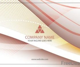 Company business card abstract styles vectors 06