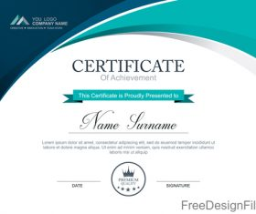 Company certificate abstract template vectors 01