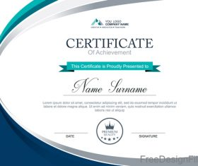 Company certificate abstract template vectors 02