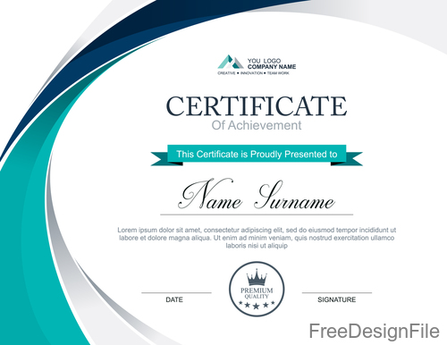 Company certificate abstract template vectors 03