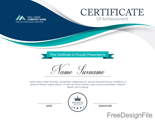 Company certificate abstract template vectors 04