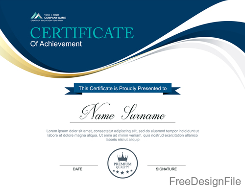 Company certificate abstract template vectors 05