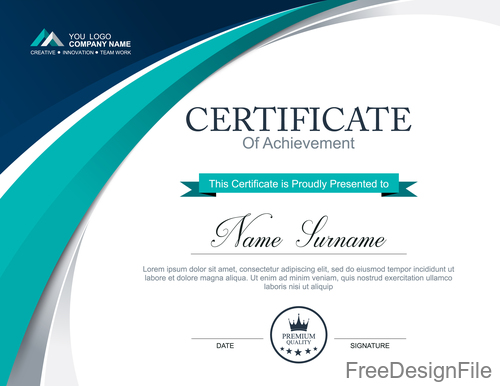 Company certificate abstract template vectors 07