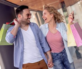 Couple to stroll around the streets Stock Photo 01