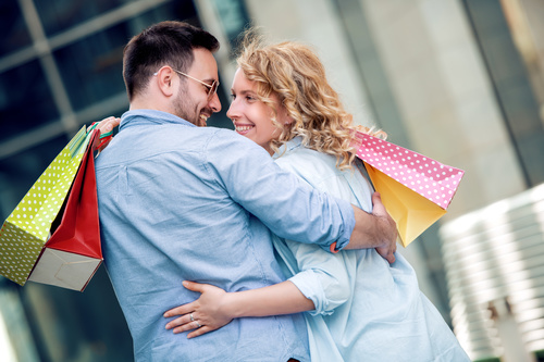 Couple to stroll around the streets Stock Photo 07