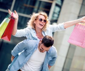Couple to stroll around the streets Stock Photo 13