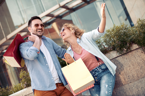 Couple to stroll around the streets Stock Photo 15