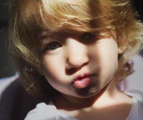 Cute blond little girl Stock Photo 02