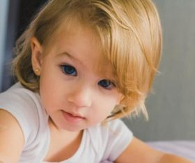 Cute blond little girl Stock Photo 04