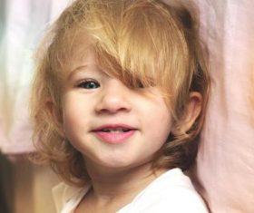Cute blond little girl Stock Photo 06
