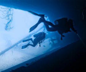 Deep sea diving Stock Photo 02