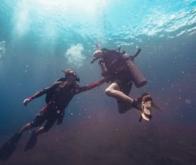 Deep sea diving Stock Photo 04