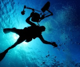 Deep sea diving Stock Photo 08