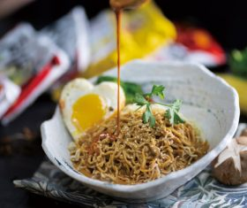 Delicious and delicious instant noodles Stock Photo 03