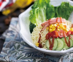 Delicious and delicious instant noodles Stock Photo 04