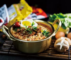 Delicious and delicious instant noodles Stock Photo 05