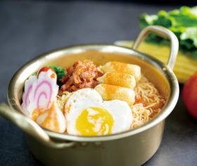 Delicious and delicious instant noodles Stock Photo 10