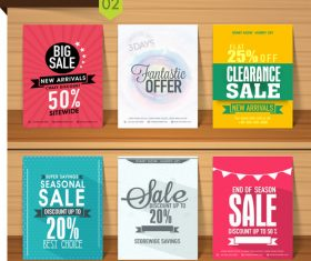 Discount with sale poster and flyer vector 01