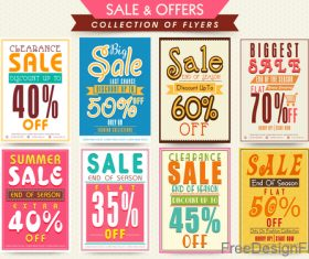 Discount with sale poster and flyer vector 02