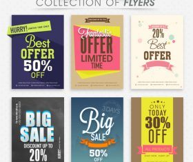 Discount with sale poster and flyer vector 03