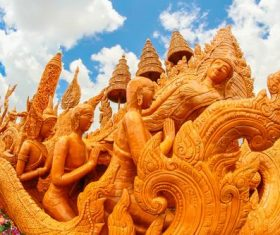 Exquisite carving float Stock Photo 10
