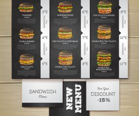 Fast food menu price list vector design 01